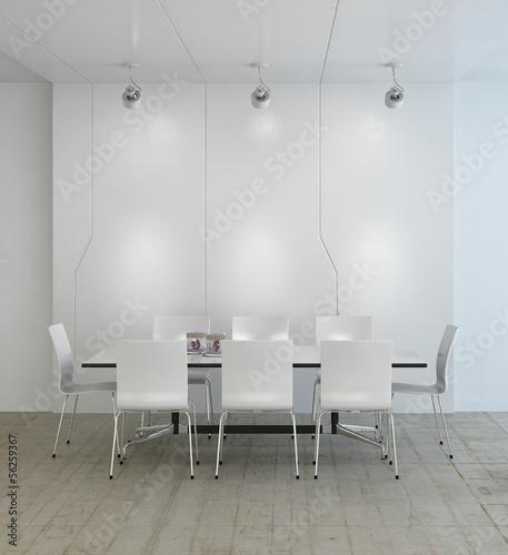 Modern white light dining room