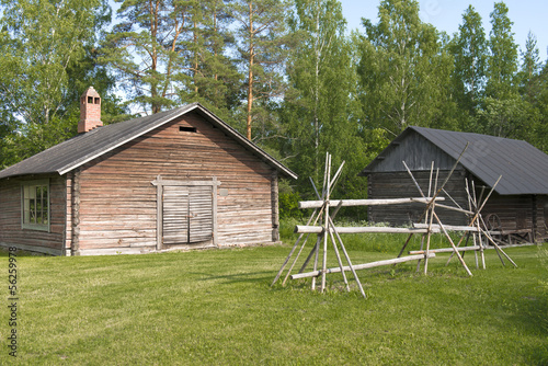 Open museum of old scandinavian village in Finland