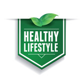 Healthy lifestyle label or ribbon