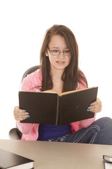 teen stressed reading book