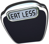 Eat Less Words Scale Lose Weight Diet