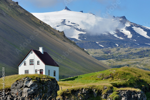 Leinwanddruck Bild Iceland - Snæfellsjökull volcano and glacier