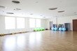 bright gymnasium with big mirror