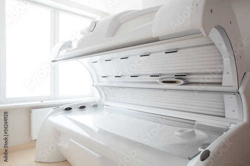 white solarium in white room