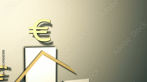 Money Graphic 3D Animation (euro)