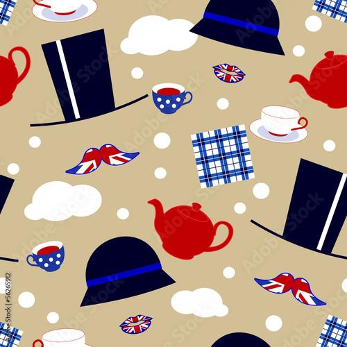 english tea party invitation - 56265912