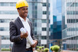 Afro american construction engineer