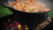 Pilaf preparation - Afghan, Uzbek, Tajik cuisine main dish