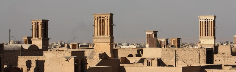 Yazd, tours du vent, Iran