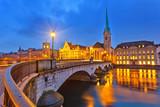 Fototapety Zurich at night