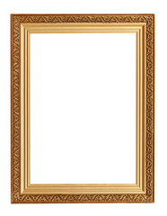 picture frame with carved pattern