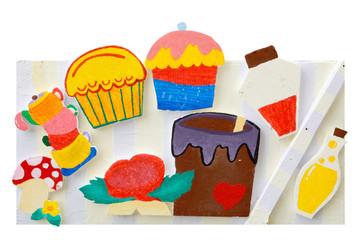 cartoon image on polystyrene foam