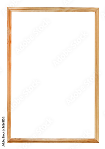 narrow simple wood picture frame