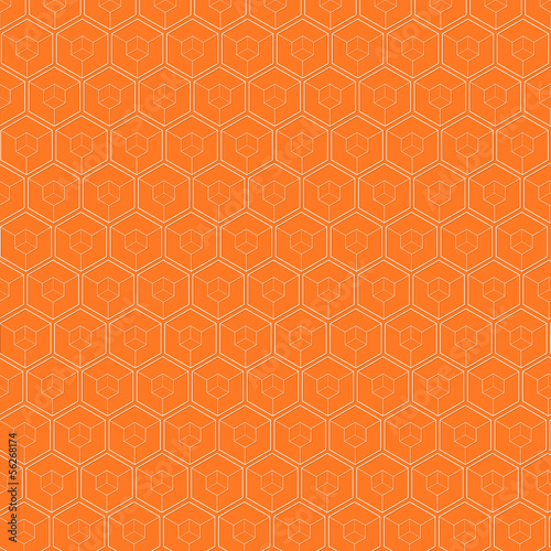 White hexagons background