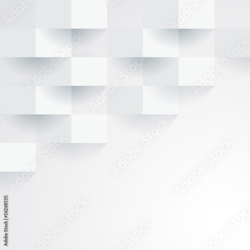 Sticker White geometric wallpaper background.