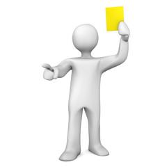 Referee Yellow Card