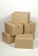 Cajas de cartón apiladas