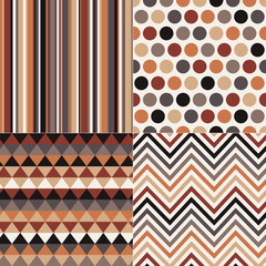 seamless geometric brown pattern