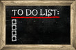 Chalkboard image with empty to do list