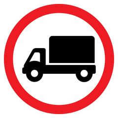 Truck Road Sign