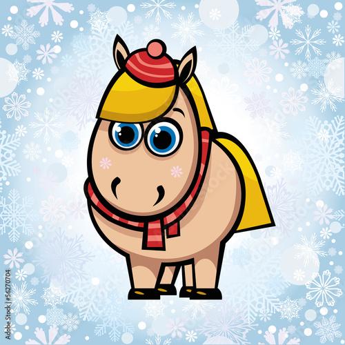 Cartoon horse.