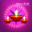 Beautiful happy diwali diya bright colorful hindu festival backg