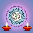 Beautiful colorful diwali diya rangoli colorful background vecto
