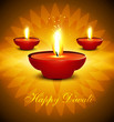 Artistic hindu diwali bright colorful festival vector background