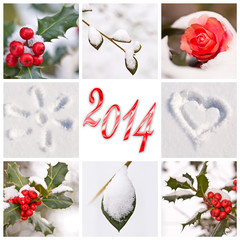 2014, collage hiver neige