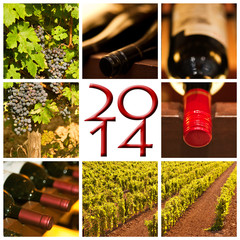 2014, collage vin rouge