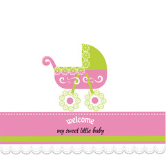Newborn Baby Announcement Card