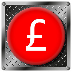 Pound metallic icon
