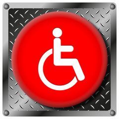 Wheelchair metallic icon