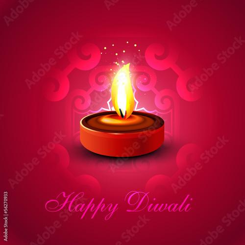 Beautiful Happy diwali diya colorful hindu festival  background