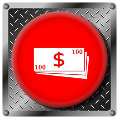 Money metallic icon