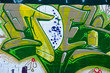 Abstract graffiti detail in Green