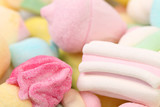 Different colorful marshmallow.