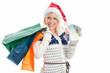 Frau mit Weihnachtsgeld geht shoppen