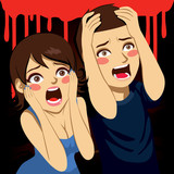 Scared Couple Screaming