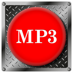 MP3 metallic icon