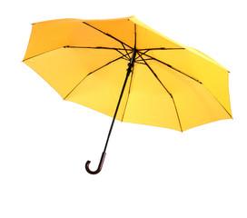 Leuchtend-gelber Regenschirm