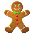 Gingerbread man decorated colored icing - 56272381