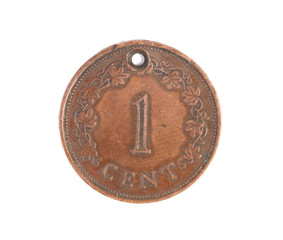 Malta monet one cent.