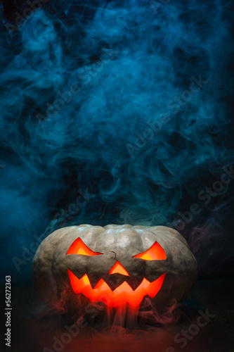 Smoking Halloween Pumpkin