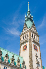 Tower of the Town Hall in Hamburg