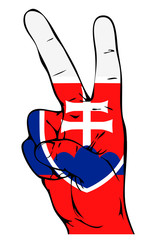 Peace Sign of the Slovak flag