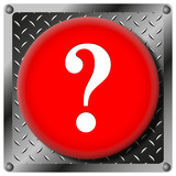Question mark metallic icon