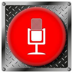 Microphone metallic icon