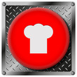 Chef metallic icon