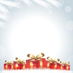 Cadeaux rouges-bas de page